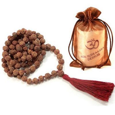 Aum Rudraksha Mala - 108 beads - 8mm