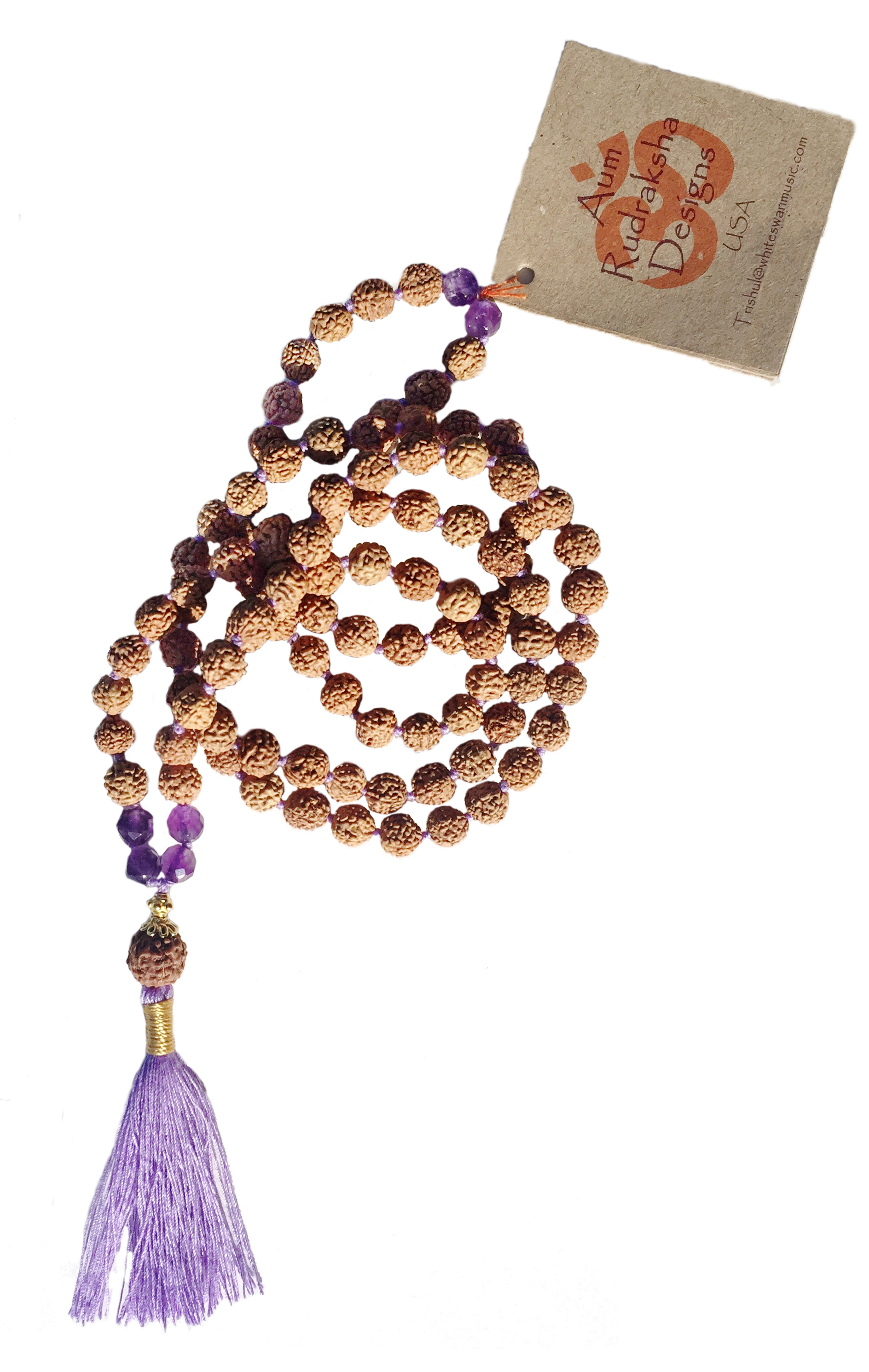 Rudraksha Yogi Mala Amethyst - 108 beads
