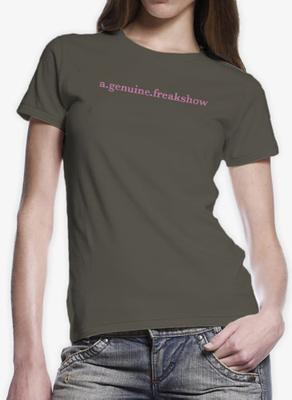 Scribble Logo Olive Women's T-Shirt