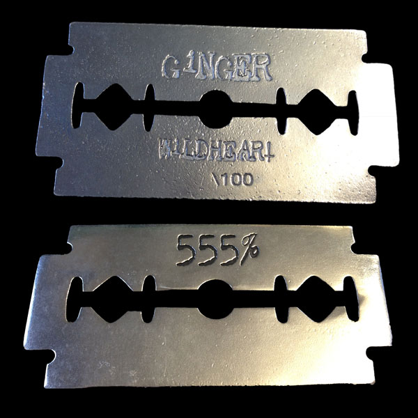555 Razorblade – Pewter Belt Buckle