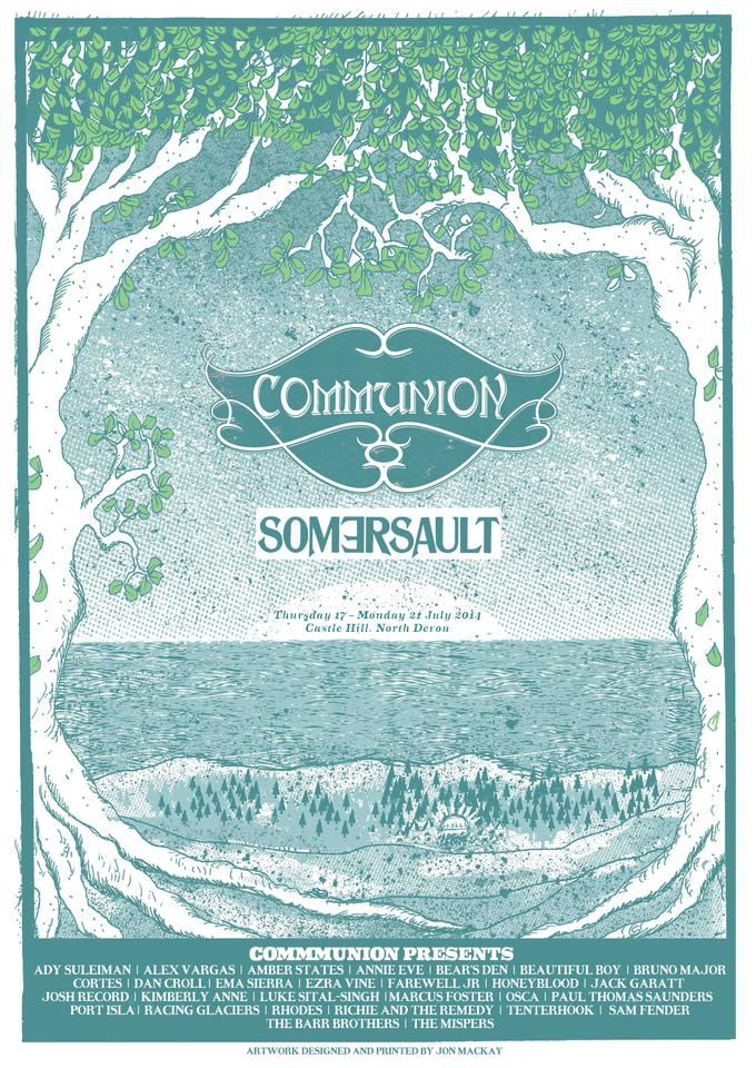 Somersault 2014 screen-printed poster